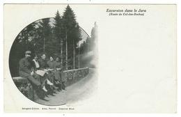 CPA-Excursion Dans Le Jura (route Du Col Des Roches) Sergent Citron, Alex, Poirot, Caporal Brun - Weltkrieg 1914-18