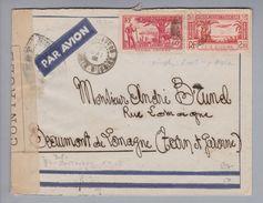 Afrika Elfenbeinküste Côte D'Ivoire 1941-05-17 Zensurbrief Nach Frankreich - Côte D'Ivoire (1960-...)