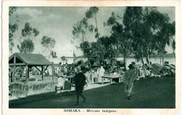 ASMARA - MERCATO INDIGENO - ANIMATA - ED.CARTOLERIA A.O MASSAU - NVG FP - C180 - Eritrea