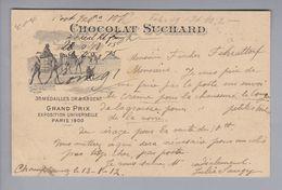 "Motiv Schokolade Chocolat Suchard 1912-01-13 Champtauroz ""Grand Prix Paris 1900"" - Alimentation"