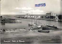 Lazio-fiumicino Veduta Molo Di Ponente Animata Anni 50 - Fiumicino