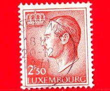 LUSSEMBURGO - Usato - 1971 - Profilo Del Gran Duca Jean (volta A Sinistra) - 2.50 - 1965-91 Jean