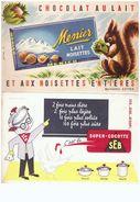 5  Buvards  Philbee  Menier  Gringoire  Super-cocotte Seb - Blotters