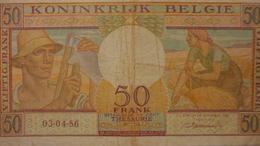 BELGIQUE 50 FRANCS 3/4/1956 - [ 4] Belgische Bezetting Van Duitsland