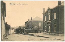 Brabant Wallpn>REBECQ 1906 Timbre 1c -  Rebecq La Rue Des Ecoles - B 5675 Edit Nestor Remy, Rebecq - CPA - Rebecq