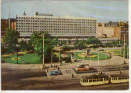 LEIPZIG HOTEL STADT LEIPZIG INTERHOTEL  TRAM STRASSENBAHN SONDERMARKE 1966 - Leipzig