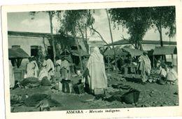 ASMARA -MERCATO INDIGENO - ANIMATA - ED.CARTOLERIA A.O MASSAU - NVG FP - C170 - Eritrea