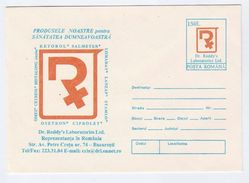 1996 ROMANIA Postal STATIONERY Illus KETOROL SALMETERAL Laboratory Pharmacy Health Medicine Stamps Cover - Pharmacy