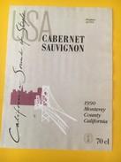 5660 -  Cabernet Sauvignon 1990 California Sound Of Style Monterey USA - Etiquettes