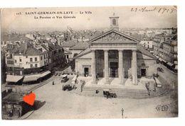 38275-ZE-78-SAINT-GERMAIN-EN-LAYE-La Ville-La Paroisse Et Vue Générale------animée-voitures - St. Germain En Laye