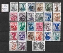 LOTE 1436  ///   AUSTRIA 1948  //  YVERT Nº: 738A/754A   CATLAG./COTE: 16€ - 1945-60 Usati