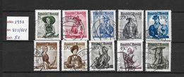 LOTE 1436  ///   AUSTRIA 1951  //  YVERT Nº: 801/807   CATLAG./COTE: 8€ - 1945-60 Usati