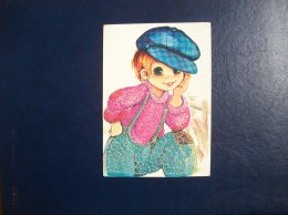 "Carte Postale Brodée: Enfant (""Poulbot"") - Brodées"