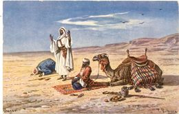 Illustrateurs F. Perlberg ( Afrique , Désert, Chameaux) - Perlberg, F.