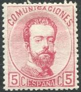 Edifil 118* Nuevo Bien Centrado, Amadeo 5 Cts Rosa 1873, Catalogo 35 Eur - Unused Stamps