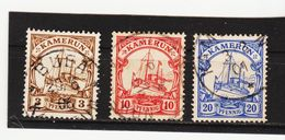 ÖMV1592 KAMERUN 1900  MICHL  7 - 9 - 10 Used / Gestempelt SIEHE ABBILDUNG - Kolonie: Kamerun