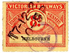 (I.B) Australia - Victoria Railways : Parcels Stamp 8d (Melbourne) - Australia