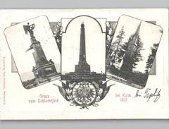 Gruss Vom Schlachtfeld Bei Kulm 1813 Teplitz Mehrbildkarte 1910 - Bohemen En Moravië
