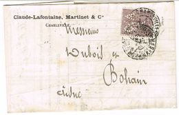 133 SEMEUSE LIGNEE PERFOREE CA COMPTOIR DES ARDENNES  SEUL SUR LAC - Postmark Collection (Covers)