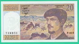 20 Francs Debussy - France - N° 738951/P.015 - Sans Fil - 1985 -  Spl - - 1962-1997 ''Francs''