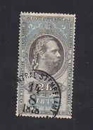 1 Austria Revenue  2 Fl. 1877 - Mit WASSERZEICHEN - Steuermarken