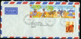 BR Australien, Muswellbrook - Luftpost Brief Nach Schweden, Vänersborg - Fünferstreifen MiNr 709-713 - Luftpost