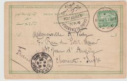 EGY194 / Port Said 1907 + Bahnpoststempel Cairo,-Alexandria Auf Bildkarte Suez Kanal - 1866-1914 Khedivate Of Egypt