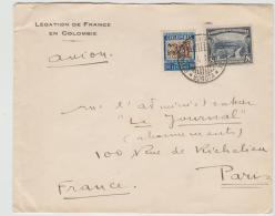 Col001 / Post Der Franz. Botschaft In Kolumbien Per Luftpost Nach Paris - Kolumbien