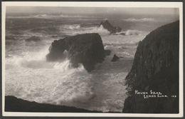 Rough Seas, Land's End, Cornwall, 1962 - RP Postcard - Land's End