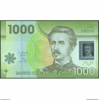 TWN - CHILE 161c - 1000 1.000 Escudos 2012 Polymer - Serie BA - Signatures: Vergara & Zurbuchen UNC - Cile