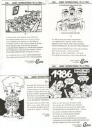 4 CPM  HUMOUR MILITAIRE    1986       ANNEE INTERNATIONALE DE LA PAIX     ILLUSTR. CABU  DELVALLE   SYSSOÏEV   RALETZ - Humor