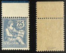 N° 127 25c Mouchon Retouché Neuf N** TB Cote 500€ Signé Calves - 1900-02 Mouchon