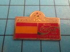 Pin313c Pin's Pins : Rare Et Belle Qualité : COCA-COLA / ITALIE MONDIAL DE FOOT 1990 DRAPEAU A IDENTIFIER - Coca-Cola