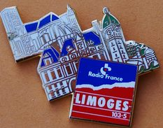 W...657  )........RADIO  FM .....RADIO  FRANCE...........LIMOGES - Pin's