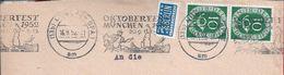 Oktoberfest Munchen 1952.Bier.Beer.Bière.Bierfest Im Oktober,München.Letter With A Pennant Of Munich Festival 1952.2scn. - Bières