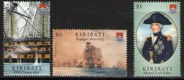 Kiribati 2005 - Bateaux, 200e Ann De La Bataille Naval De Trafalgar, Amiral Nelson - 3 Val Neufs // Mnh // CV 14 Euros - Kiribati (1979-...)