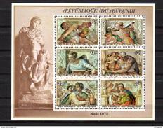 1975  BURUNDI  Noël I, 5 X PAIRES Blocs 84/85  Oblitérés De Complaisance  Cote 250 Euros - Burundi