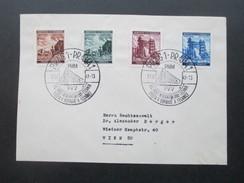 DR / Böhmen Und Mähren Nr. 75 - 78 Sonderstempel Prager Messe. Nach Wien - Briefe U. Dokumente