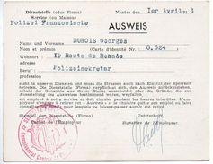 Laissez Passer De Nuit - Nantes 1er Avril 1944 - 1939-45