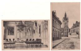 """59 - DOUAI . """" Rue De L'Université """" & """" Hôtel De Ville, Le Salon Blanc """" . 2 Cartes Postales - Réf. N°5235 - - Douai"""