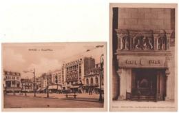 """59 - DOUAI . """" Grand'Place"""" & """" Hôtel De Ville, La Cheminée De La Salle Gothique """" . 2 Cartes Postales - Réf. N°5236 - - Douai"""