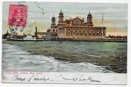 (RECTO / VERSO) NEW YORK - N° 2056 - ELTIS ISLAND - BEAU TIMBRE - CPA VOYAGEE - Ellis Island