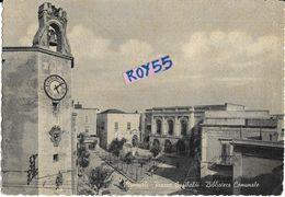 Puglia-bari-monopoli Veduta Piazza Garibaldi Biblioteca Comunale Anni 50/60 - Italia