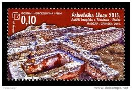 Bosnia And Herzegovina (Croatian) 2015 Mih. 411 Ancient Complex In Rivine MNH ** - Bosnie-Herzegovine