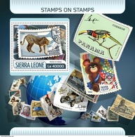 SIERRA LEONE 2017 - Prehistoric Elephant On Stamps S/S. Official Issue. - Prehistorisch