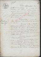 BOOS ROUEN 1840 ACTE FAMILLE ROUSSEL 8 PAGES : - Manuscrits
