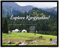 Kyrgyzstan (KEP) 2016 Explore Kyrgyzstan. Mountains. Nature. Fauna. Horse MNH ** - Kirghizistan