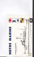 1 Buvard  Notre Marine   (dragueur  Océanique )  Le Garigliano - Trasporti