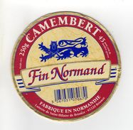 ETIQUETTE FROMAGE CAMEMBERT FIN NORMAND FABRIQUE EN NORMANDIE - Cheese