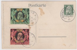 Bayern      .    Michel   .     Postkarte         .    O      .       Gebraucht    .   /   .    Cancelled - Bayern